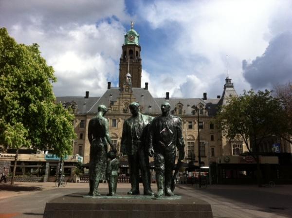 Rotterdam estatuas en la calle