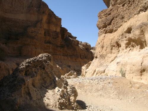 En el cañón de Sesriem en Namibia