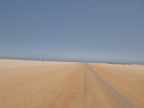 Carretera de la costa de los esqueletos en Namibia