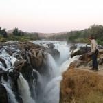 En las Epupa Falls de Namibia
