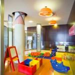 Zona de juegos en un hotel de la cadena Novotel
