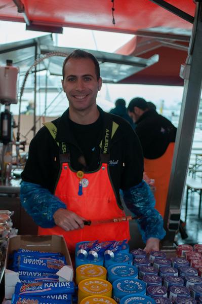 Saliendo adelante en el Mercado del pescado de Bergen