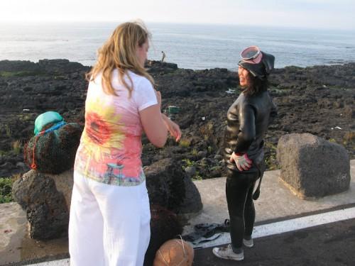 Hablando con la abuela buceadora de Jeju