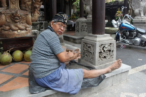 Artesano en Ubud, Bali