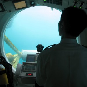El capitán del submarino de Seogwipo en Jeju