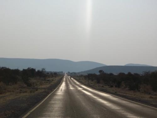 Carretera a Opuwo en Namibia