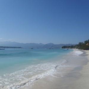 Playa de Gili Trawangan en Indonesia