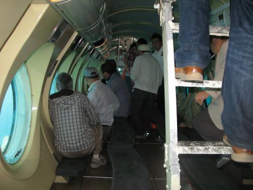 El submarino de Seogwipo por dentro