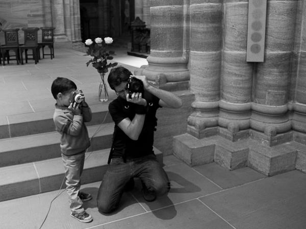 Toda la familia fotografiando