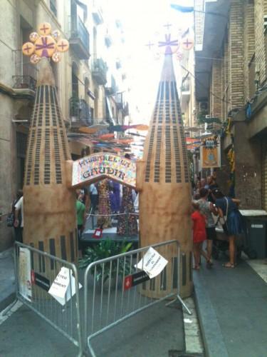 Calle Llibertat y su gaudir reciclado