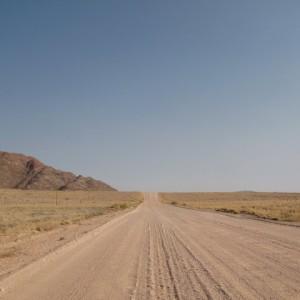 Carretera hacia Sossusvlei en Namibia