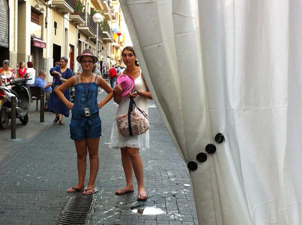 Turistas en las fiestas de Gràcia de Barcelona