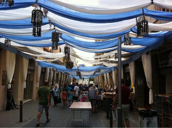 Adornos en las Fiestas de Gràcia de Barcelona