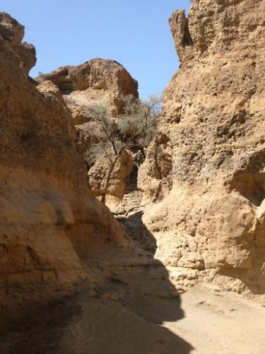 El inicio del cañón de Sesriem en Sossusvlei