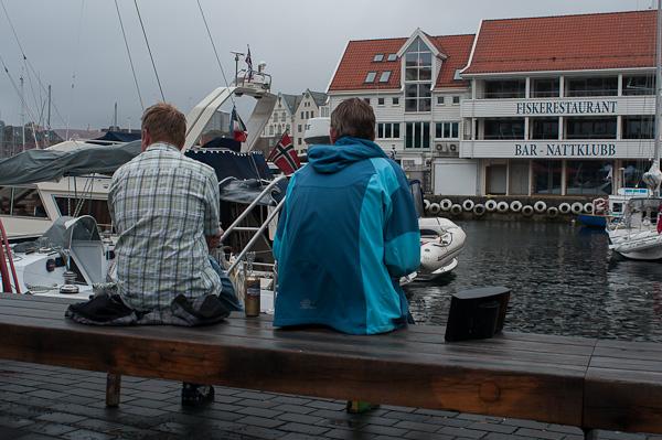 Una mañana tranquila en el puerto de Bergen