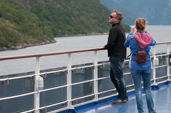 Estupendo perfil en los fiordos noruegos