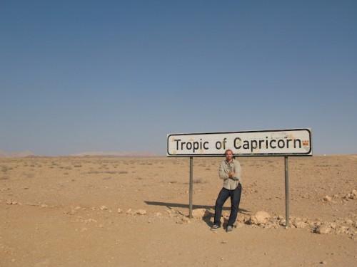 Cruzando el trópico de Capricornio en Namibia