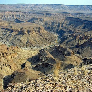 El Fish River Canyon de Namibia (@ Wikipedia)
