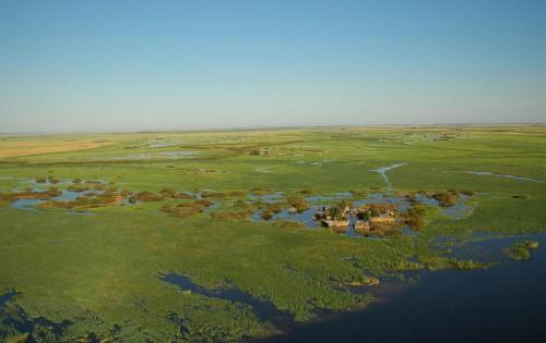 Vista de un poblado de Caprivi en Namibia (@ Wikipedia)