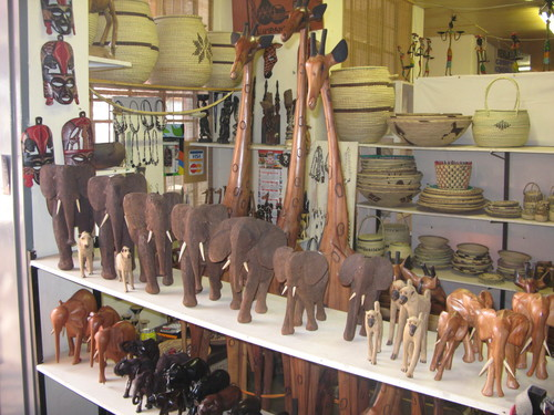 Souvenirs en el Namibia Craft Center de Windhoek