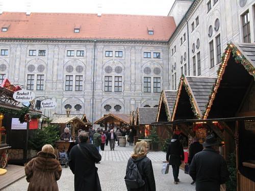 Mercado de Navidad en el Residenz de Munich