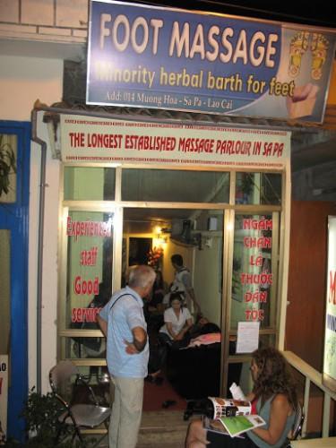 Chiringuito de masajes en Sapa, Vietnam