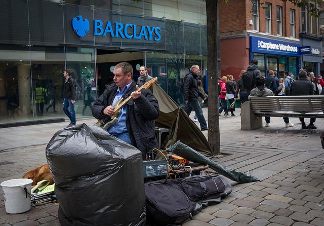 Música por unas pocas libras en Manchester