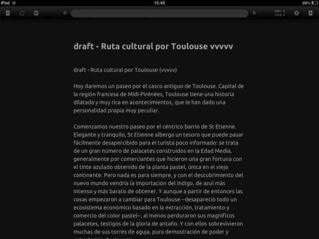 Editor Daedalus para iPad