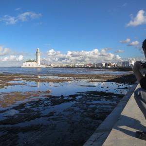 Trabajando en un blogtrip a Casablanca, foto de Viajablog.