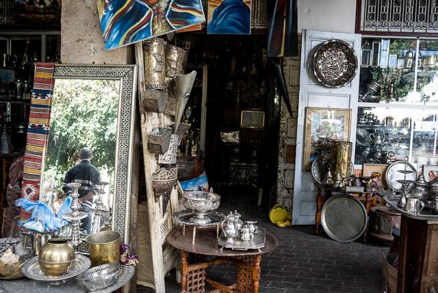 Posto da guilda Tinsmiths no bairro Habous, Casablanca