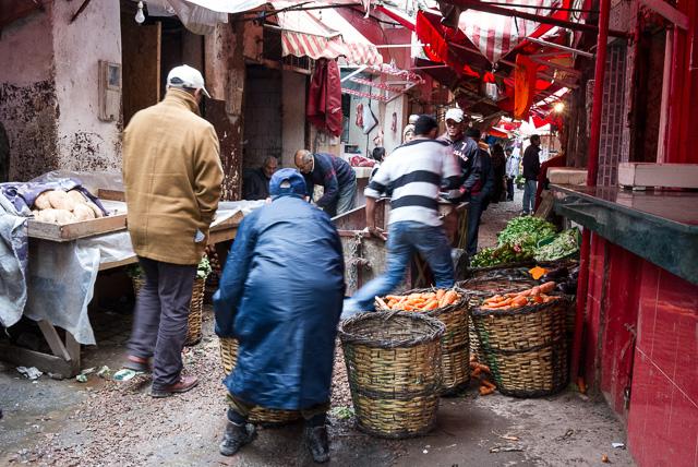 Souk na antiga Medina de Casablanca