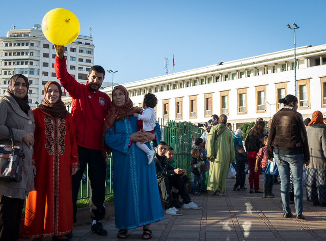Alegría en la Plaza Mohamed V de Casablanca