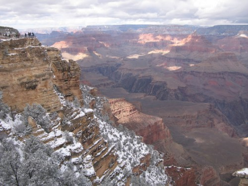 El Grand Canyon nevado