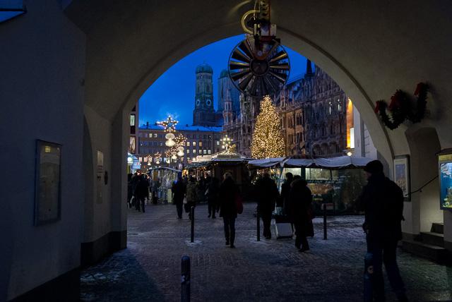 Mercado navideño de Marienplatz, en Munich