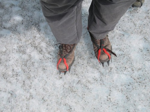 Con mis botas Panama Jack en el hielo