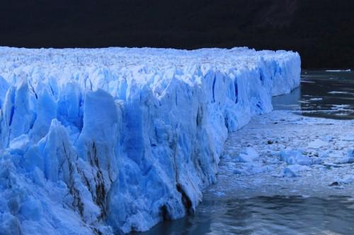 En el Perito Moreno en El Calafate