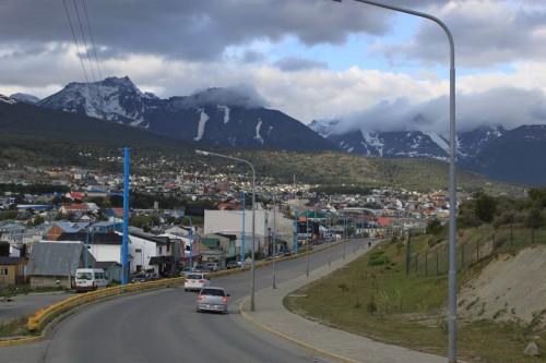 Vista de Ushuaia en el Fin del Mundo