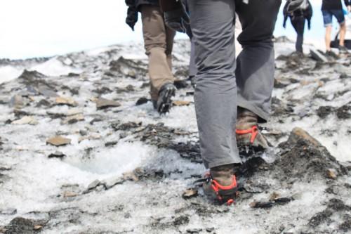 Andando por el glaciar de Viedma