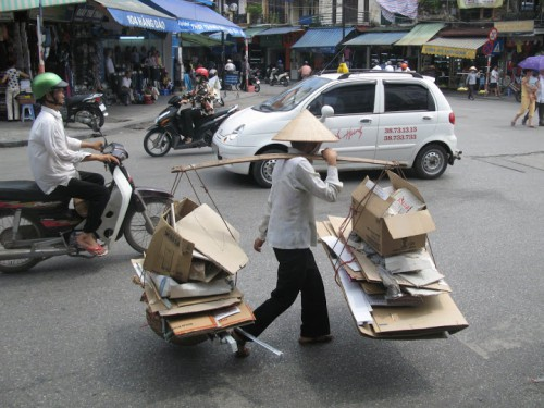 Calle de Hanoi en Vietnam