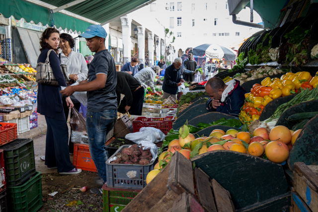 Mercado central de Casablanca