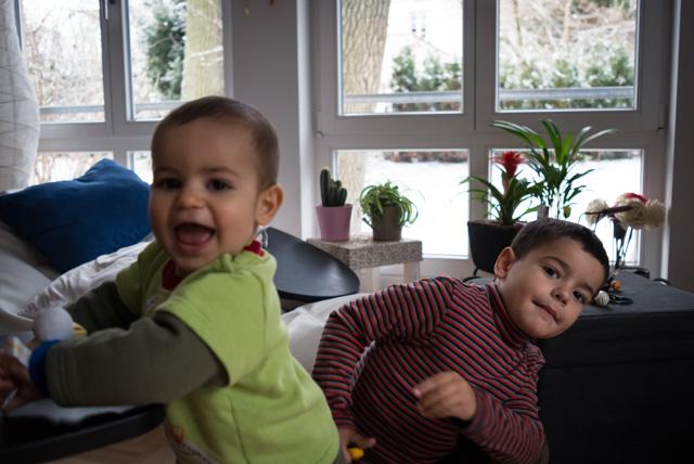 Eric y Nicolás en la casa de Marc en Múnich