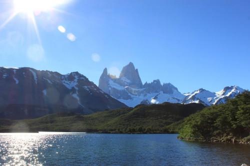Laguna Capri de camino al Fritz Roy en El Chaltén