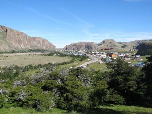 Vista de El Chaltén de camino al Fritz Roy