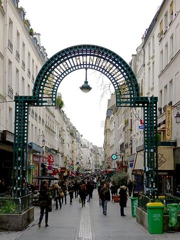 Entrada a la Rue de Montorgueil