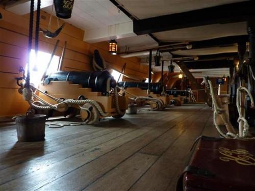 Cañones del HMS Victory