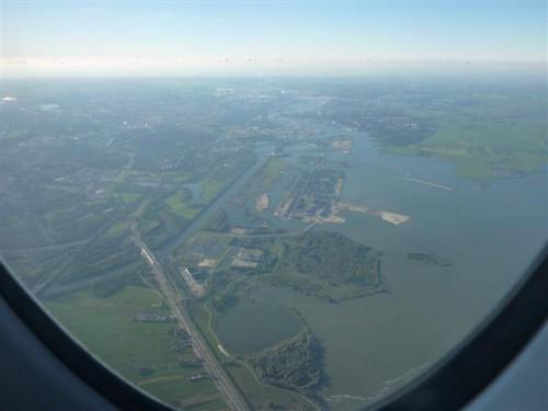 Amsterdam desde las nubes