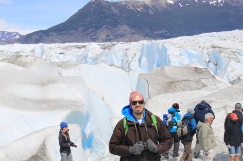 En el Glaciar de Viedma