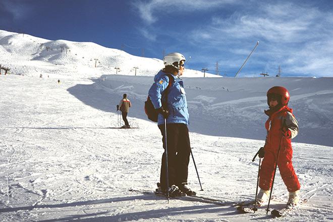 Esquiar y contemplar la naturaleza que te envuelve
