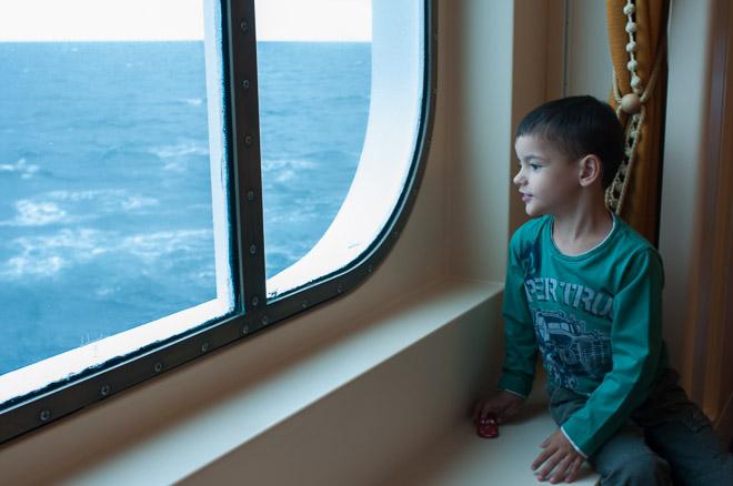Contemplando una tormenta en el Mar del Norte