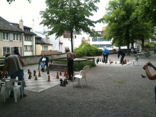 Partidas de ajedrez en Zurich